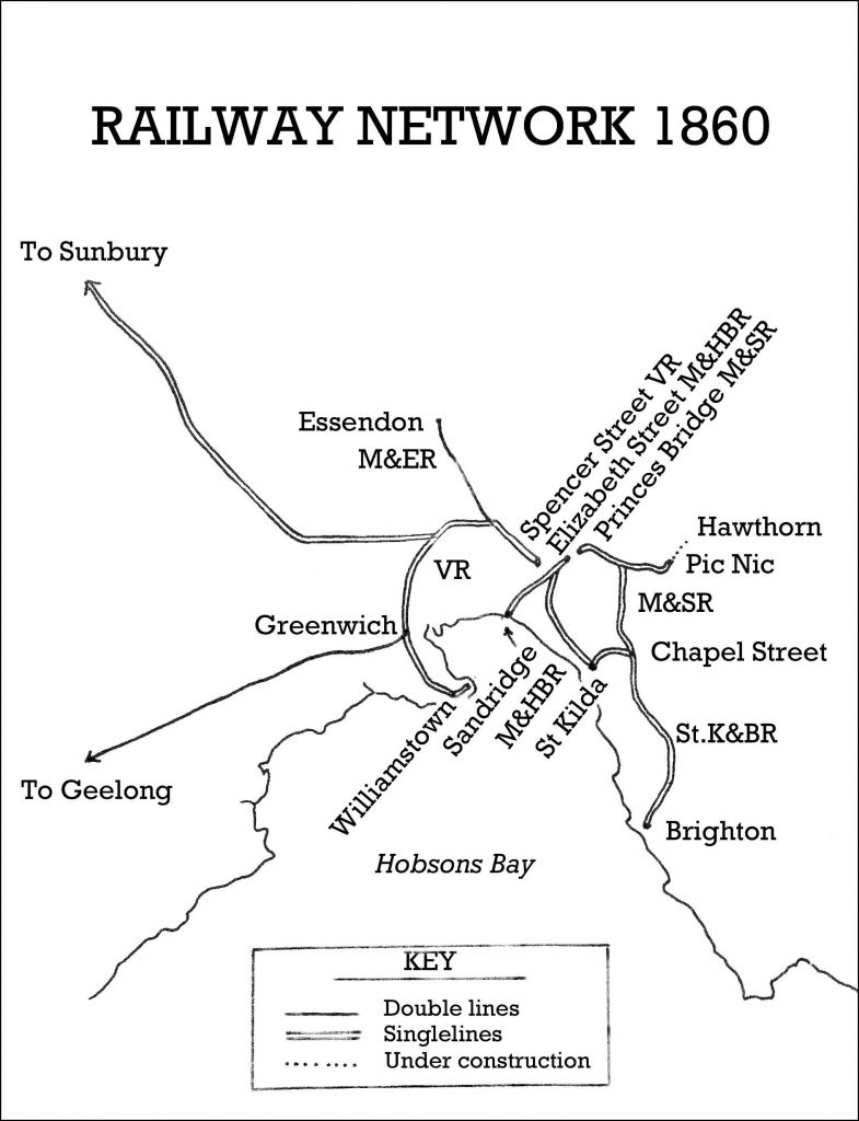 The Melbourne Railway Network 1860