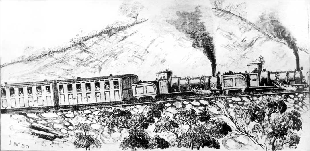 Beechworth opening train