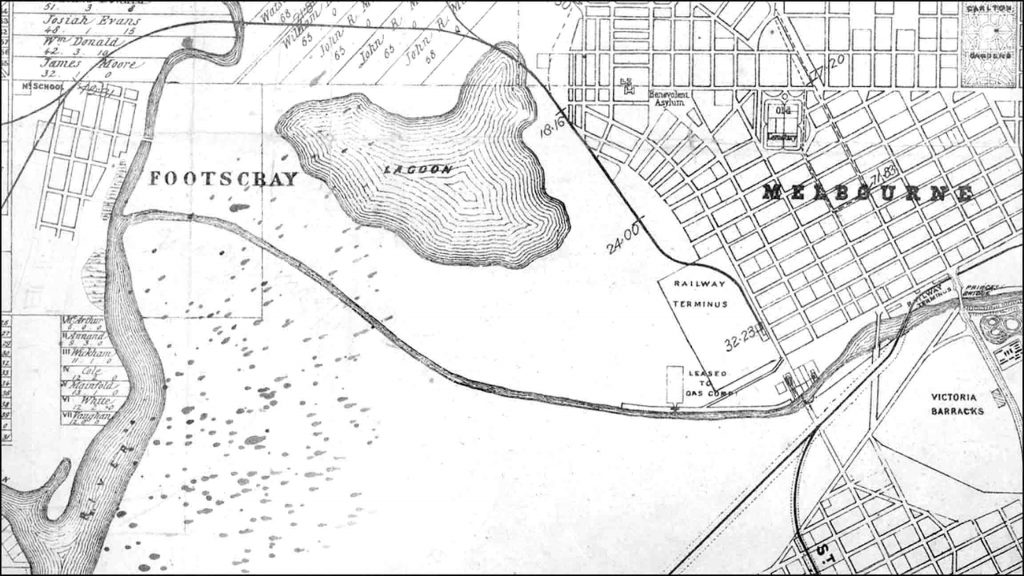 Map of West Melbourne Swamp