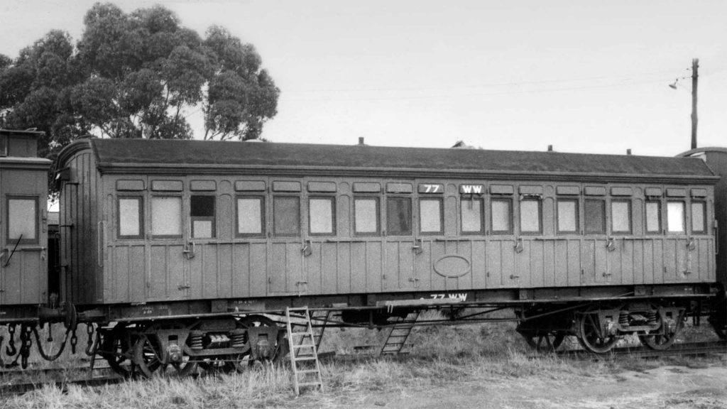 Victorian & South Australian Railways Joint Stock AB car