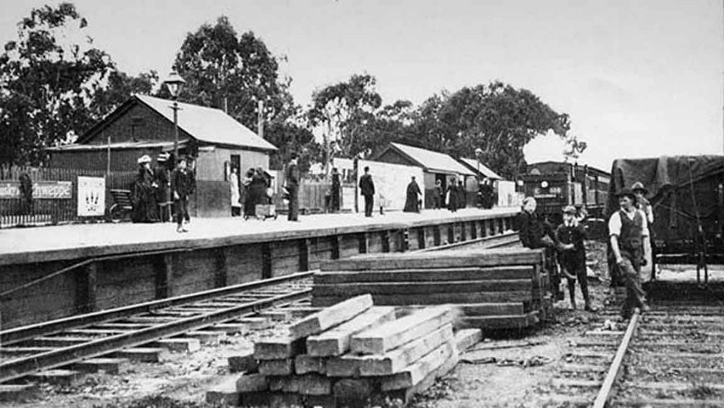 Victorian Railways Ivanhoe Station 1908